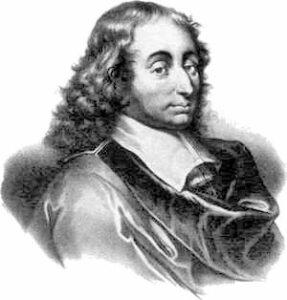 """Blaise Pascal: """"Ik schrijf je een lange brief, want ik heb geen tijd voor een korte."""""""
